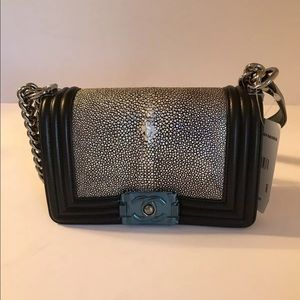 Chanel Small Black Stingray bag w Tags